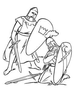 Рыцари картинки раскраски (48)