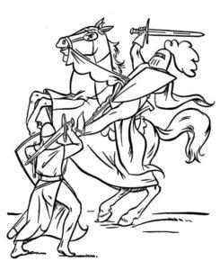 Рыцари картинки раскраски (49)