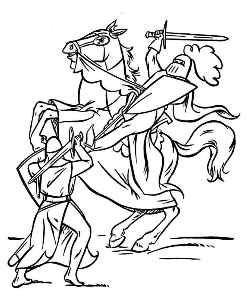 куликовская битва картинка для раскрашивания шайбой