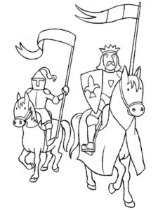 Рыцари картинки раскраски (5)
