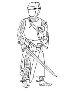 Рыцари картинки раскраски (6)