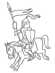 Рыцари картинки раскраски (7)