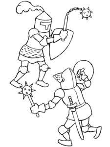 Рыцари картинки раскраски (8)