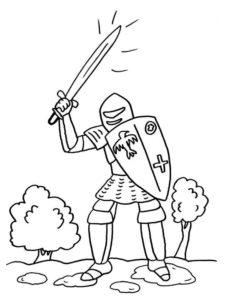 Рыцари картинки раскраски (9)