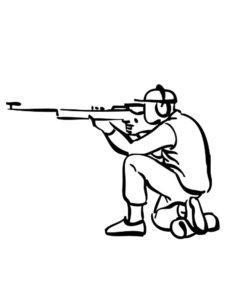 Снайпер картинки раскраски (11)