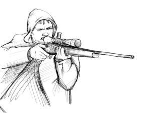 -картинки-раскраски-14-300x225 Снайпер