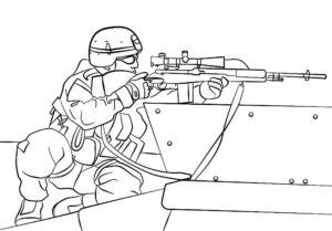 Снайпер картинки раскраски (5)