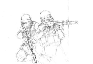Спецназ картинки раскраски (19)