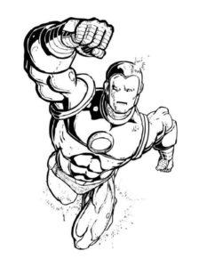 Супергерои картинки раскраски (16)