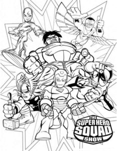 Супергерои картинки раскраски (2)