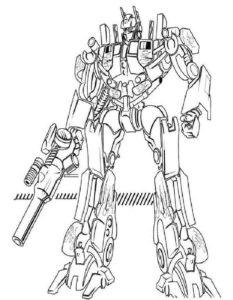 Трансформеры картинки раскраски (3)