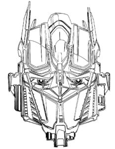 Трансформеры картинки раскраски (8)