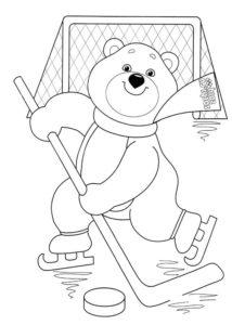 Хоккей картинки раскраски (1)