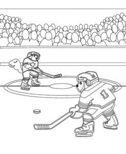 Хоккей картинки раскраски (11)