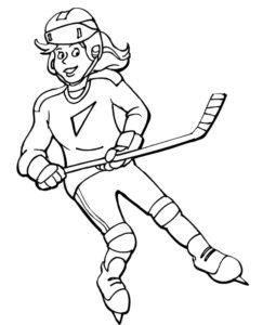 Хоккей картинки раскраски (12)