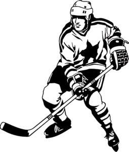 Хоккей картинки раскраски (13)