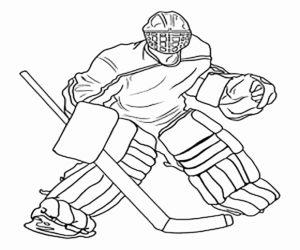 Хоккей картинки раскраски (16)