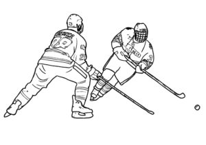 Хоккей картинки раскраски (17)