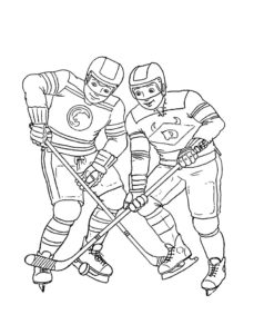 Хоккей картинки раскраски (18)