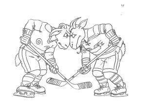 Хоккей картинки раскраски (19)