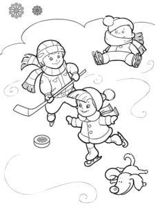 Хоккей картинки раскраски (20)