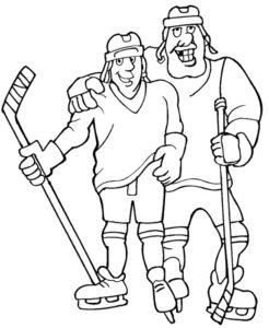 Хоккей картинки раскраски (21)