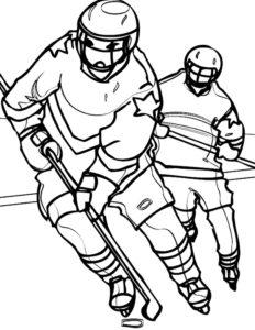 Хоккей картинки раскраски (22)