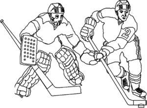 Хоккей картинки раскраски (23)