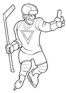 Хоккей картинки раскраски (25)