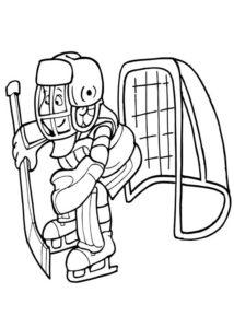 Хоккей картинки раскраски (27)