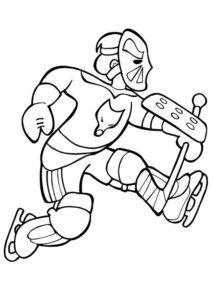 Хоккей картинки раскраски (28)