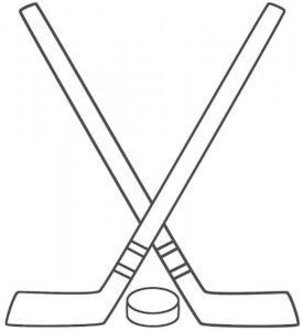 Хоккей картинки раскраски (3)