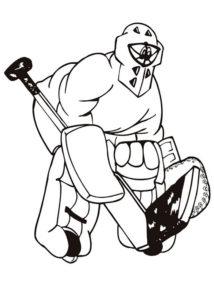 Хоккей картинки раскраски (30)