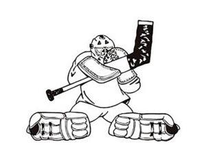 Хоккей картинки раскраски (31)