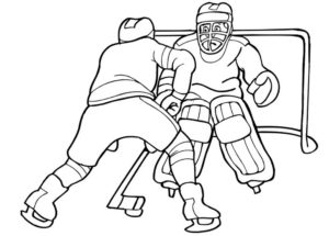 Хоккей картинки раскраски (32)