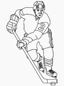 Хоккей картинки раскраски (33)