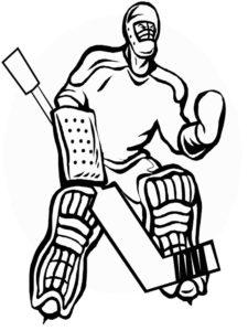 Хоккей картинки раскраски (34)