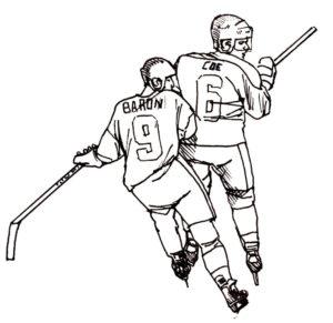 Хоккей картинки раскраски (35)
