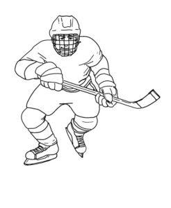 Хоккей картинки раскраски (38)