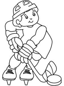 Хоккей картинки раскраски (41)