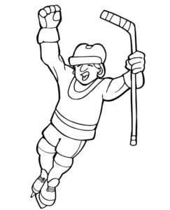Хоккей картинки раскраски (42)
