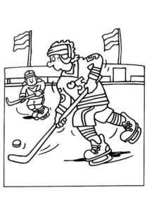 Хоккей картинки раскраски (43)