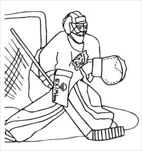 Хоккей картинки раскраски (44)