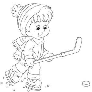 Хоккей картинки раскраски (45)