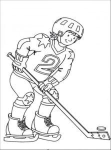 Хоккей картинки раскраски (46)
