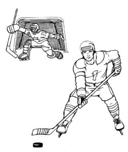 Хоккей картинки раскраски (5)