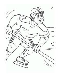 Хоккей картинки раскраски (50)