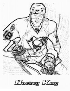 Хоккей картинки раскраски (51)