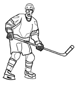 Хоккей картинки раскраски (52)