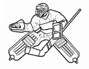 Хоккей картинки раскраски (53)